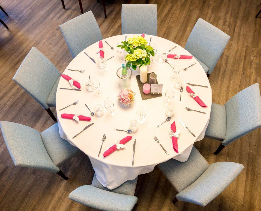 Bankett runde Tische